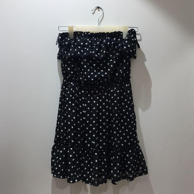 Y.R.Y.S. Black and White Polka Dot Dress