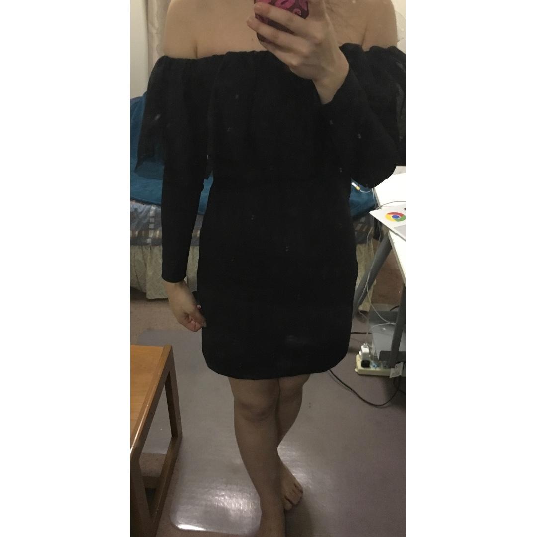 ZARA TRF Collection Black Dress
