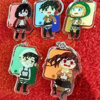Attack On Titan Double Sided Acrylic Keychains