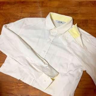 Cream-Yellow Plain Shirt |BNIP|