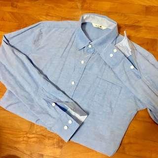 Baby Blue Plain Shirt |BNIP|