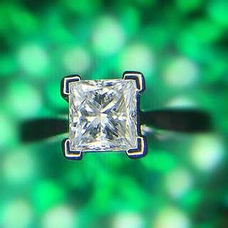 18K金 公主鑽 0.56ct  半卡鑽石戒指