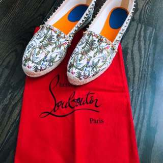 Christian Louboutin Spiked Floral Espadrilles