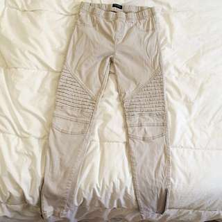 Nude/Grey Joggers With Knee And Lower Thigh Detail