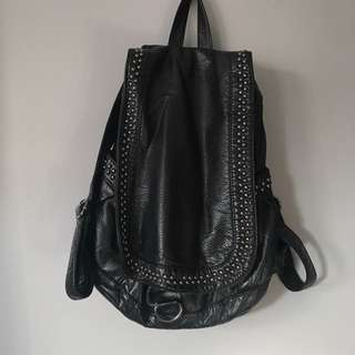 Slouchy Leather Backpack