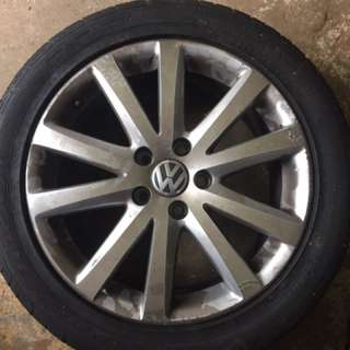 "VW 17"" Wheels/tyres"
