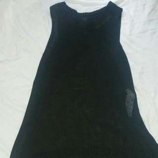Black Knitted Singlet Vest - Factorie