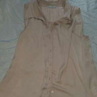 Silk Flesh Coloured Shirt