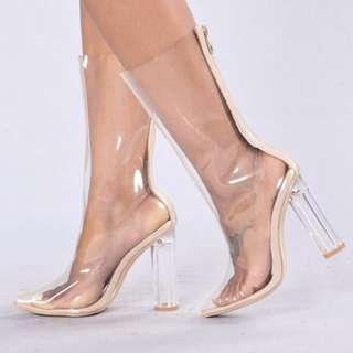Fashion Nova Clear Boots