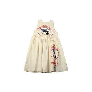 童趣 美式 鄉村 農場 牛奶 背心 洋裝