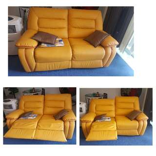 2 Seater Customised Recliner Sofa (Full LEATHER)
