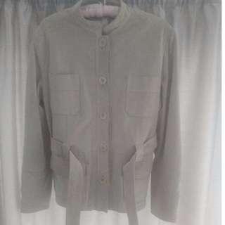 Suede safari jacket size 16