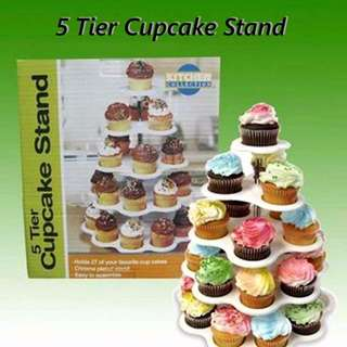 CUPCAKE STAND GREEN 5 TIER