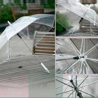 [NEW] Payung Transparan / Payung Bening Jepang