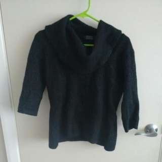 95% Lambswool Three Quarter Sleeved Top