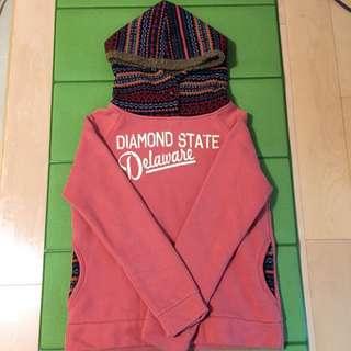 粉色復古帽T