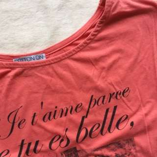 Cotton On Je T'aime Top