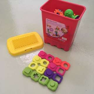 Baby 41PCS Clipo Figure Bucket Toys