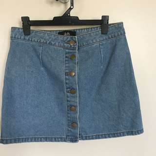 Denim dotti skirt