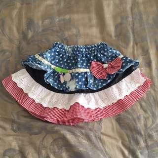 Kids Girl Mini Skirt Star Rok Pendek Anak Size 12-18 Months