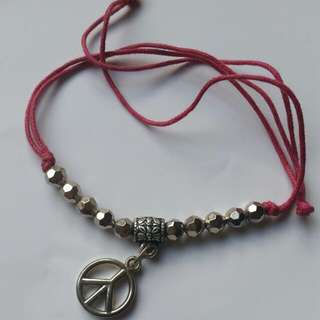 Tie-up Peace Bracelet