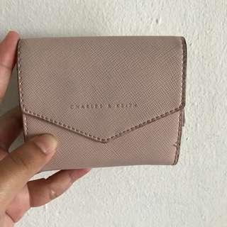 Original Charles & Keith Pale Pink Wallet