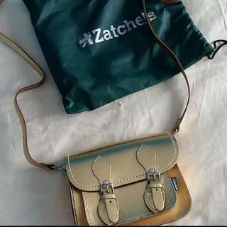 Zatchels Mini Metallic Gold Satchel