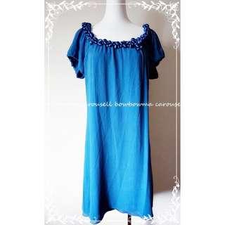 Vanessa Bruno Silk Dress 優雅寬領純絲洋裝