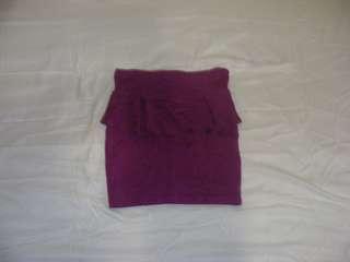 purple frill skirt.