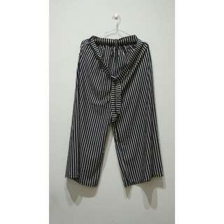 Striped Cullotes Pants