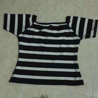 Atasan Stripes Black&White