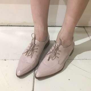 Zara nude loafers