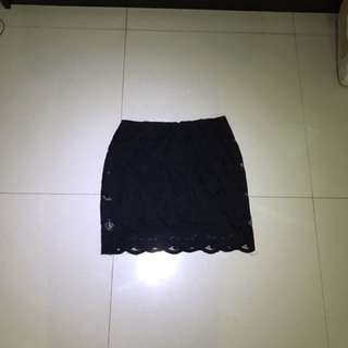 Zara Mini Skirt With Flowers Pattern Size M