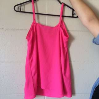 pink glassons cami