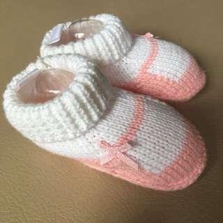 Sepatu Rajut Baby 0-3 Bulan Kaos Kaki Pink