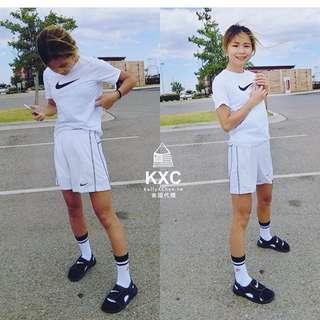 深藍 Nike 大童 Dri-fit運動褲 五分褲