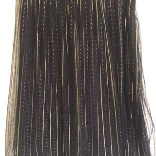 Gold & Black Tulle Skirt Size 8/10