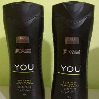 Pack Of 2 AXE YOU 473ml body/face wash