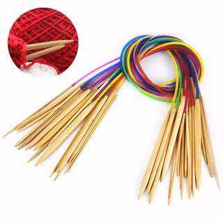 HKA0186AA - New High Quality 18 Bamboo Circular Knitting Needles