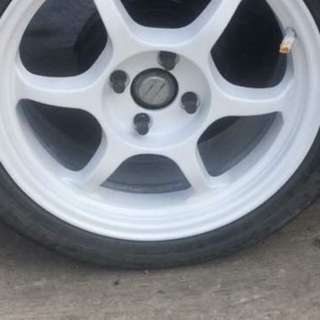 tyres 16 inci with spotrim