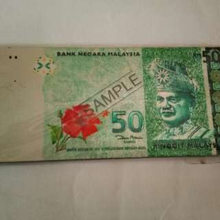 RM50 Currency Note Fridge Magnet