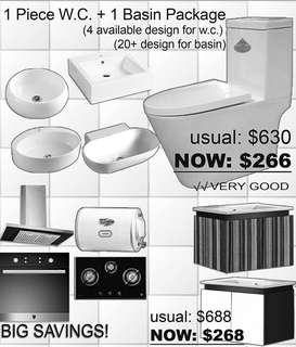 BASIN CABINET WITH ACCESSORIES