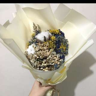 畢業花束 乾花 保鮮花 滿天星 棉花 graduation photo taking  畢葉相 bouquet flower dry flower