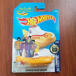 The Beatles Yellow Submarine Hotwheels (NEW MODEL) Case B