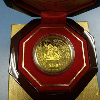 999.9 Fine Gold Zodiac Sign Gold Proof Coin
