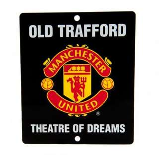 Manchester United Arsenal Chelsea Barcelona Window Metal Sign