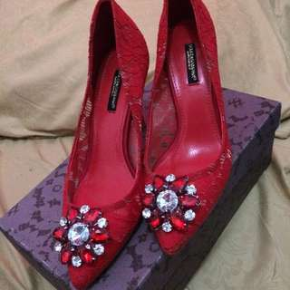 DOLCE GABBANA belluci Red Shoes