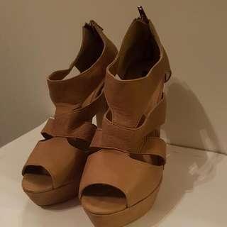 Near New Tony Bianco Nude Colour Heels Size 8
