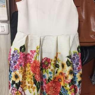 Dress Atau Gaun Bunga-bunga