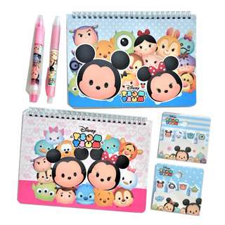 Disney TSUM TSUM Weekly Notebook Diary Stationery Gift Sets of 3 Items